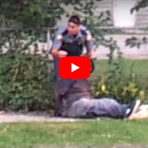 WATCH: Minnesota Police Officer Maces, Kicks, Punches Helpless Suspect