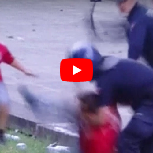 WATCH: Portuguese Officer Caught Beating Soccer Fan in Front of Children Suspended For 90 Days
