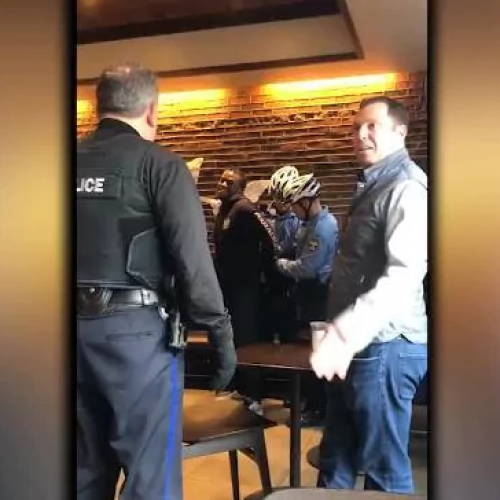 WATCH: Video Shows Police Arresting Two Men in Starbucks For 'Ridiculous' Reason
