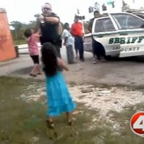 WATCH: Florida Deputy Caught on Camera Attacking 14 Yr Old Latino Girl, Pulls Gun Out in Front of Children