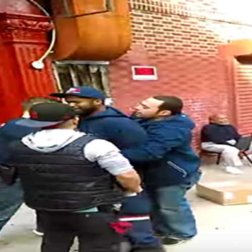 WATCH: 4 Cops Forcefully Arrest NYC Mail Carrier After They Almost Hit Him With Unmarked Car