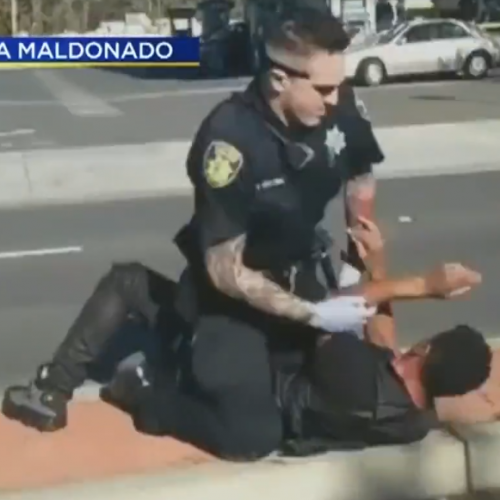 WATCH: Video Shows California Cop Beating Man and Pulling Gun Out
