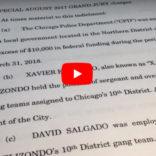WATCH: Chicago Gang Unit Officers Federally Indicted Stealing for Cash and Drugs