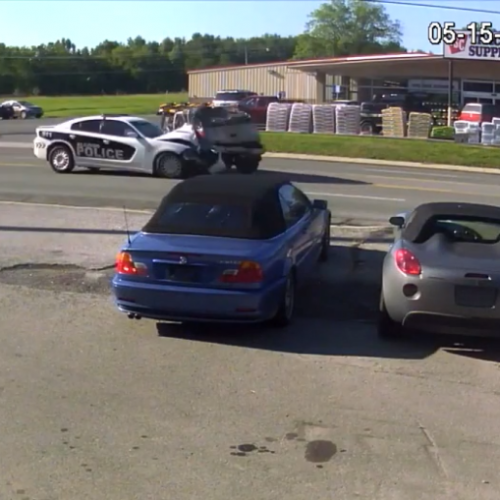 WATCH: Cop in High-Speed Crash Caught Racing Down Roadways Again