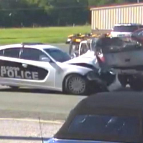 WATCH: Speeding Cop Who Crashed Into SUV Wasn't Responding to an Emergency