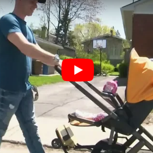 WATCH: Police Ticket Man For Walking on Residential Street Near Montreal