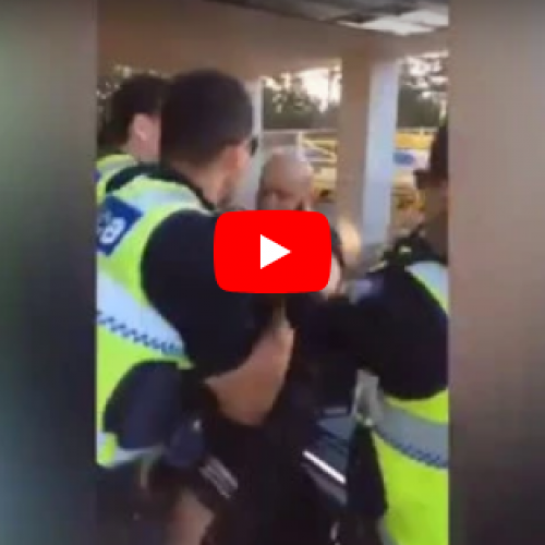 WATCH: Man Violently Arrested Outside a McDonalds in Melbourne