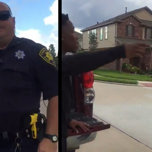 WATCH: Houston Officer Harasses Teen for Cutting Grass in Neighborhood