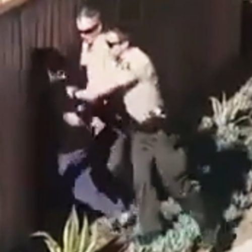 WATCH: San Diego Sheriffs in Vista Caught on Camera Slamming Man's Head Into Fence