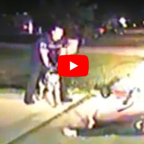 WATCH: Cop Lets Dog Maul Man For The Crime Of Riding A Bike Without Lights