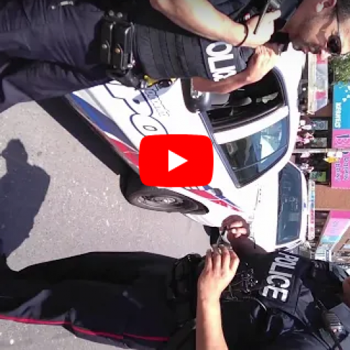 WATCH: Five Toronto Police Cruisers Respond to Ticket Cyclist For Riding on Road