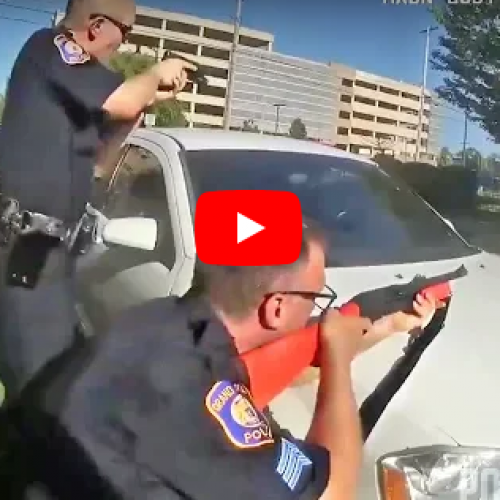 WATCH: Police Use Bean Bags Ammunition To Stop Suicidal Woman