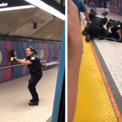 WATCH: 4 Montreal Cops Brutally Beat And Taser A Man At Fabre Metro Station