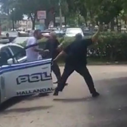 Video Shows Two Officers Pummeling Man in Hallandale Beach — City Places Them on Leave