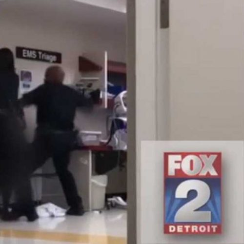 WATCH: Detroit Police Chief Calls Footage of Cop Punching Woman in Hospital 'Troubling' and Suspends Officer