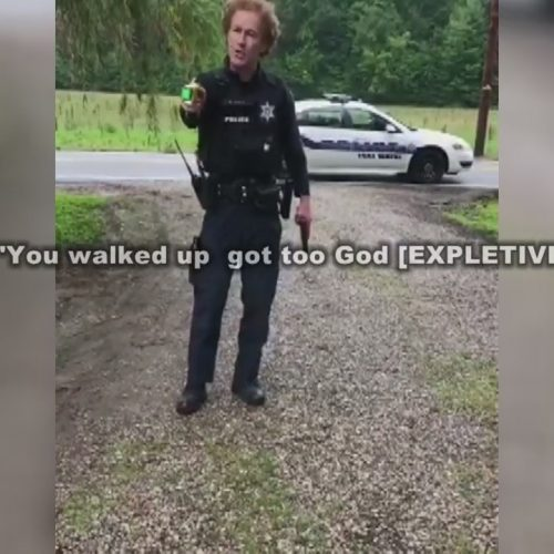 WATCH: Video Shows Indiana Officer Threatening Residents With His Taser and Firearm