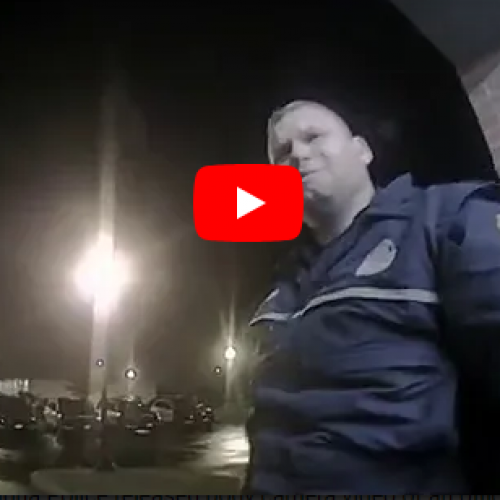 WATCH: Drunk Police Officer Cries After Crashing Police Car